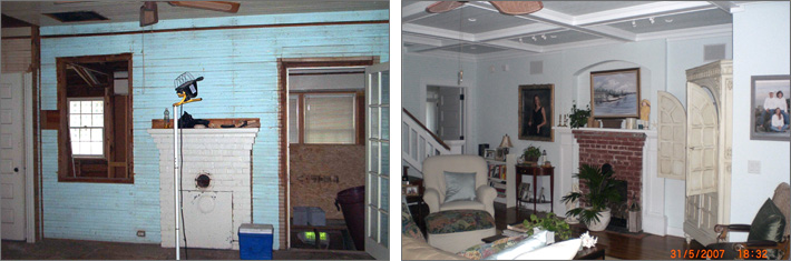 Mantle Before and After